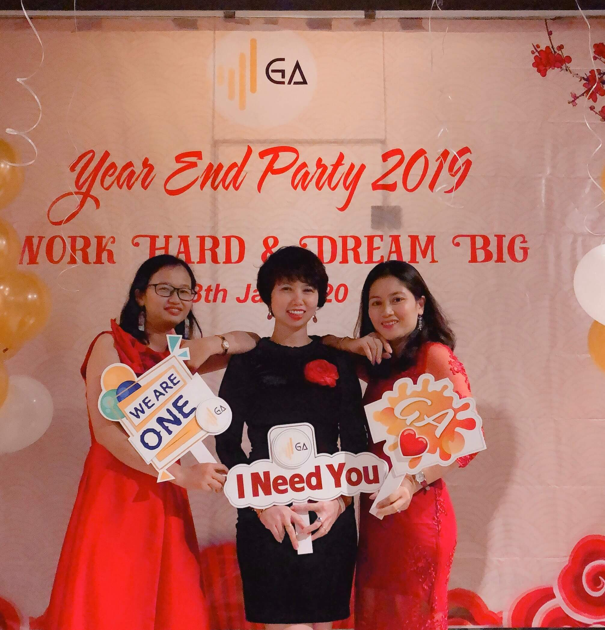 Year End Party 2019 check in