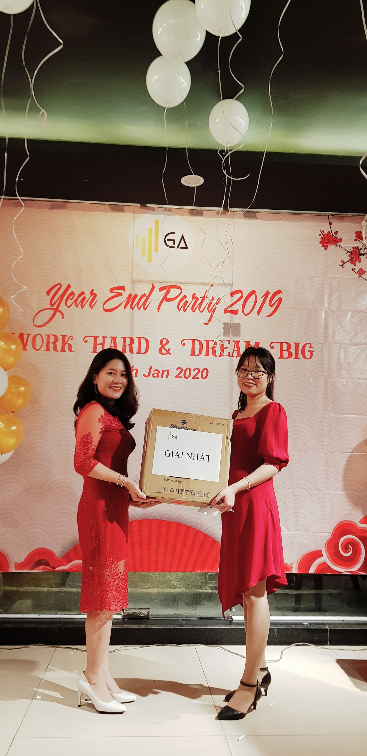 Year End Party 2019 lucky draw giai nhat