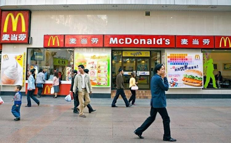 Mc Donald in Wuhan dong cua vi coronavirus