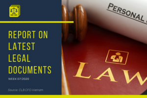 report on latest legal documents week 7